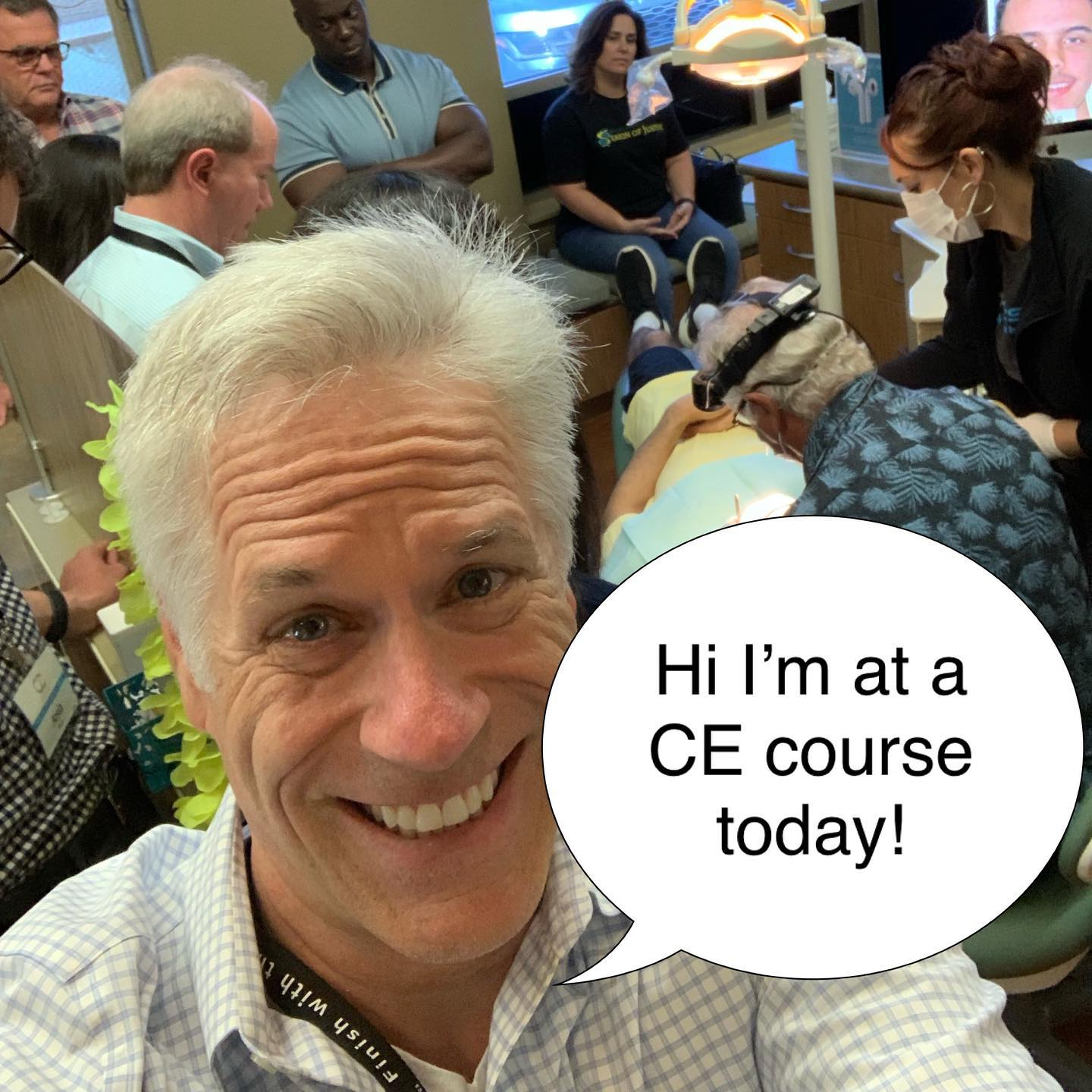 Dr. Roeder at a continuing education course